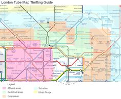 London Tube Map Thrift Shopping Guide. Don't miss it.