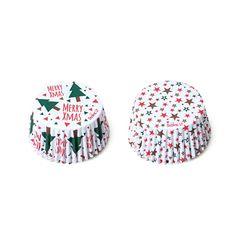 Mit den Frohe Weihnachten und Sternen Muffinförmchen kannst du tolle Cupcakes und Muffins backen. Perfekt für die Weihnachtszeit.  Im Set sind 36 Papierförmchen.   Inhalt: Decora Cupcake Förmchen Merry Xmas & Sterne, 36 Stück
