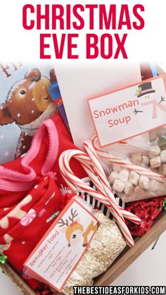 Make a new magical Christmas Tradition with a DIY Christmas Eve box. Lots of Christmas Eve Box ideas. Diy Christmas Eve Box, Christmas Gift Videos, Xmas Eve Boxes, Christmas Gift Baskets, Homemade Christmas Gifts, Christmas Activities, Family Christmas, Christmas Time, Christmas Decorations