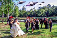 When aliens crash weddings...  Fotowerks Custom Photography...the memory preservation specialists. www.fotowerkscustomphotography.com