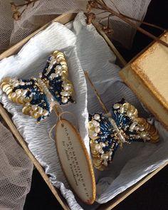 #заколки #бабочка #handembroidery #ручнаяработа #hautecouture #авторскоеукрашение #украшенияручнойработы #baterfly #handmade #acsessories #украшениедляволос #lunevilleembroidery #jewelry