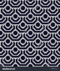Knitted Seamless Pattern Scales Ilustración vectorial en stock 453203221…