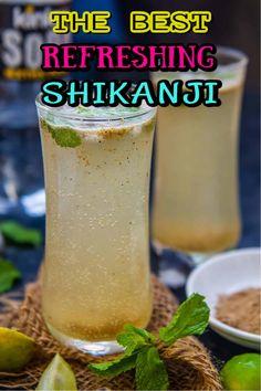 Refreshing Drinks, Summer Drinks, Indian Food Recipes, Asian Recipes, Watermelon Mojito, Indian Drinks, Soda Recipe, Lemon Drink, Chaat Masala