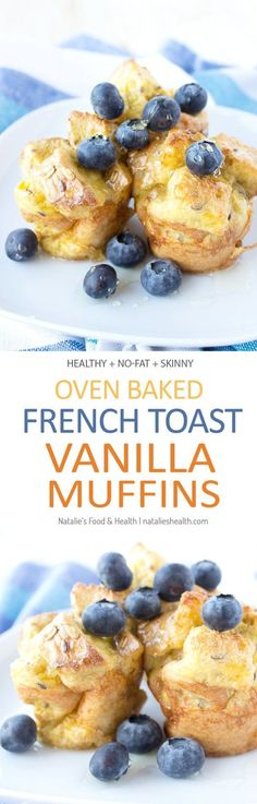 French Toast Vanilla Muffins baked in the oven, fat-free and just delicious. Perfect kid-friendly HEALTHY breakfast! CLICK to read recipe or PIN for later! via http://natalieshealth.com