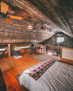 Hay is for horses, and barn lofts are for cozy cabin vibes. Swipe to look around the barn loft at Barn Loft Apartment, Horse Barn Plans, Home Insulation, Barn Renovation, Cabin Interiors, Kabine, Tiny House Cabin, Cabin Design, Cozy Cabin