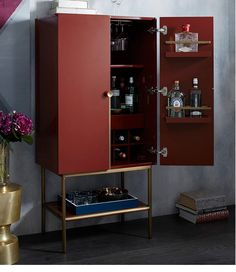 West Elm Bar cabinet. This has to be an ikea hack or something right?!
