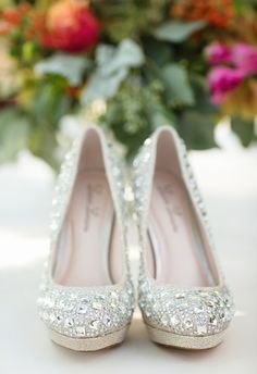 Glitz, glam, bedazzled pumps // Julie Wilhite Photography