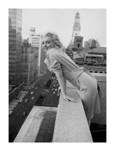 Marilyn Monroe at the Ambassador Hotel, New York, c.1955 by Ed Feingersh. Print from Art.com.