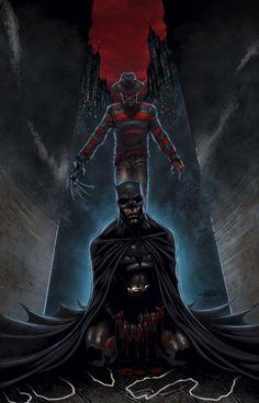 Freddy Krueger vs. Batman...that's just...neat.