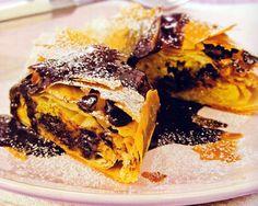 Chocolate and Almond Strudel Recipe - http://www.allbakingrecipes.com/recipes/chocolate-and-almond-strudel-recipe/