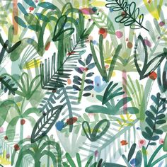 'Foliage' wrapping paper by Charlotte Trounce for Wrap.