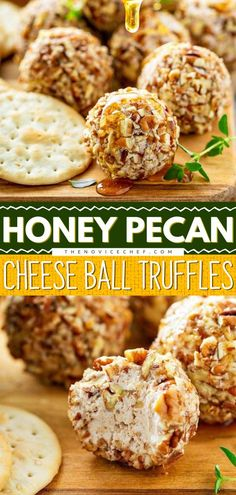 These simple Honey Pecan Cheese Ball Truffles require only 6 ingredients that are likely already available in your pantry! These cheese truffles are made with creamy goat cheese, honey, pecans, and a… Cheese Ball, Goat Cheese, Best Appetizers, Appetizer Recipes, Charcuterie, Truffles, Pecan, Cravings, Honey