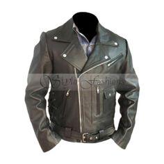 Terminator 2 Arnold Schwarzenegger Biker Leather Jacket | Stylo FashionsStylo Fashions