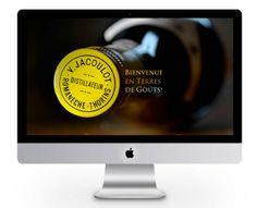 page d'accueil du site Jacoulot (http://monogramme-marketing.com/portfolio/jacoulot-spiritueux/) et www.jacoulot.com
