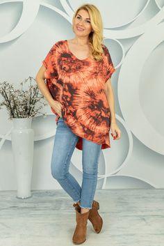 Oversizowa bluzka Centola Spring Collection, Tie Dye, Tunic Tops, Women, Fashion, Tunic, Moda, Fashion Styles, Tye Dye
