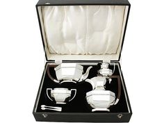 Sterling Silver Four Piece Tea and Coffee Service - Art Deco style - Vintage George VI  SKU: A3734 Price  GBP £2,950.00  http://www.acsilver.co.uk/shop/pc/Sterling-Silver-Four-Piece-Tea-and-Coffee-Service-Art-Deco-style-Vintage-George-VI-50p3370.htm#.Vkx3fL88rfc