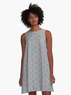 """Ultimate Gray #3"" A-Line Dress by Kettukas 