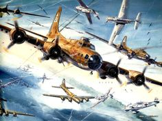 Aviation Art - Combat Aircraft Painting by Keith Ferris 19 Air Combat Art 0112 Ww2 Aircraft, Military Aircraft, Fighter Aircraft, Aircraft Painting, Airplane Art, Ww2 Planes, Nose Art, Aviation Art, Military Art