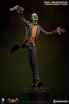 BATMAN: ARKHAM ASYLUM — Joker and Batman Statues From Sideshow