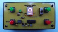 Reaction timer game 50 - 555 Circuits