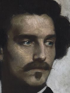 Anselm Feuerbach, self portrait (detail) Art Curator & Art Adviser. I am targeting the most exceptional art! Catalog @ http://www.BusaccaGallery.com