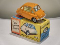 "Corgi No: 233 ""Heinkel Bubble Car"" - Orangey (Original 1960's/Boxed) • EUR 111,22 - PicClick IT"