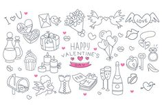 drawn valentines doodles hand valentine drawing drawings happy easy doodle draw creativemarket pencil mini flowers