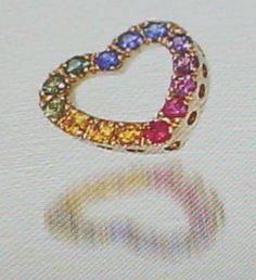 Rainbow sapphires