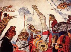 James Ensor. The Frightful Musicians. 1891.