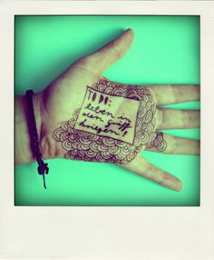 Who needs a #planner when you have #art on your hand?