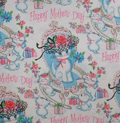 Vintage Tie Tie MOTHER'S DAY Gift Wrap  by MidCenturyAddiction, $5.25