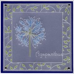 Hobbies And Crafts, Diy And Crafts, Vellum Crafts, Parchment Design, Parchment Cards, Agapanthus, Card Patterns, Paper Cards, Cardmaking