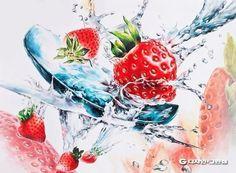 흠 Red Hair red violet hair Food Painting, China Painting, Red Violet Hair, Red Hair, 3d Art Drawing, Art Drawings, Composition Art, Still Life Fruit, Sketch Markers