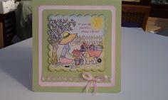 Handmade Card for a keen gardener and dog lover