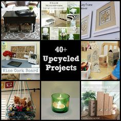 40+ Upcycled Projects And Recycled Crafts And DIY Projects