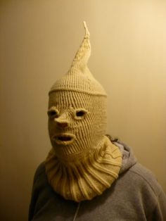 This is the creepiest thing I have ever knit. I did it as part of a charity auction to raise money for a sick little boy.