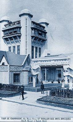 L'Exposition des Arts Décoratifs 1925  Pavillons français: La Tour de Champagne