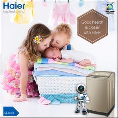 Equipped with #SelfCleaning intelligence, #Haier #WashingMachine cleans your #clothes without getting itself dirty!!