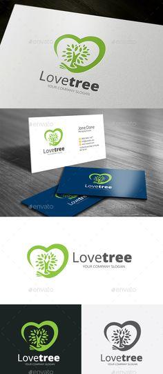 Love Tree - Logo Design Template Vector #logotype Download it here: http://graphicriver.net/item/love-tree-logo/14095117?s_rank=1366?ref=nexion