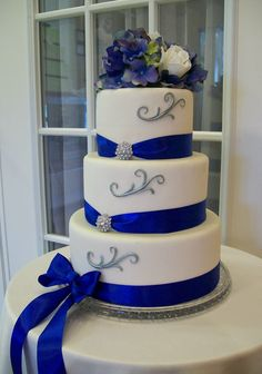 royal blue and silver wedding cakes www pixshark wedding cakes blue Wedding Cupcakes Blue Color Schemes Royal Blue Wedding Cakes, Square Wedding Cakes, Blue Wedding Flowers, Wedding Cakes With Cupcakes, Cool Wedding Cakes, Wedding Cake Designs, Wedding Blue, Silver Flowers, White Flowers