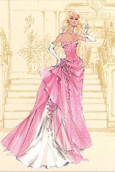 Barbie Calendar Sketch by Robert Best