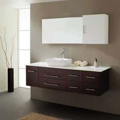 "Found it at AllModern - Justine 59"" Single Bathroom Vanity Set with White Top and Mirror"
