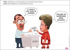 Popularidade... Dilma x Reducao da maioridade penal - Dilma muda nome no cartorio
