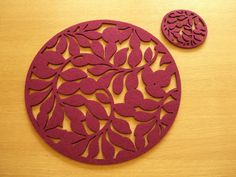 Felt Cut Out Table Mats 4 Placemats & 4 Coasters Set *NEW* | eBay