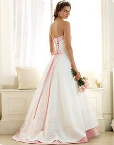 Pink Wedding Dress back