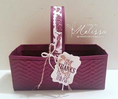 Stampin' Up! For All Things - FREE BASKET TUTORIAL - by Melissa Davies @ rubberfunatics