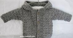 Cute Crochet Patterns Crochet-Baby-Boy-Cardigan-patterns-Easy-Hooded-Crochet-Cardigan-Pattern-FREE - Easy FREE Crochet Cardigan with hood perfect crochet sweater for baby boys. 6 months, months (use a hook) and 18 months. Crochet Baby Cardigan Free Pattern, Crochet Baby Sweaters, Crochet Baby Clothes, Baby Knitting, Sweater Patterns, Crochet Hoodie, Free Knitting, Crochet For Boys, Cute Crochet