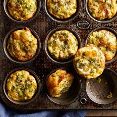Protein-packed omelet muffins, or baked mini omelets, are a perfect breakfast for busy mornings. Make a batch ahead and freeze for the days when you don't have time for your typical bowl of oatmeal. Low Carb Breakfast, Breakfast Dishes, Breakfast Recipes, Perfect Breakfast, Breakfast Ideas, Breakfast Casserole, Breakfast Muffins, Healthy Breakfast Omelet, Free Breakfast