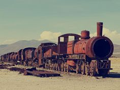 Abandoned train in Bolivia. The most haunted train in Bolivia. (Ghosts told me so).