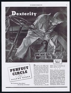 DEXTERITY, Perfect Circle Race Cars Retro Poster